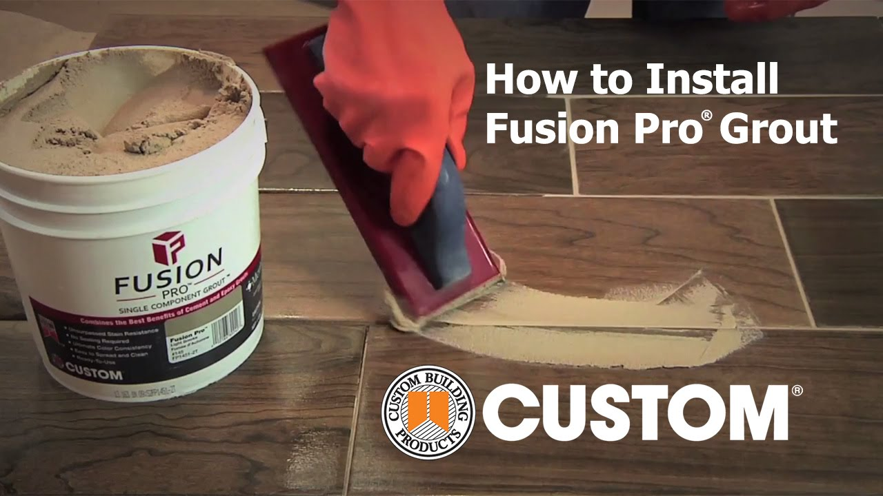 Fusion Pro How To Install Fusion Pro Versus Cement Grout
