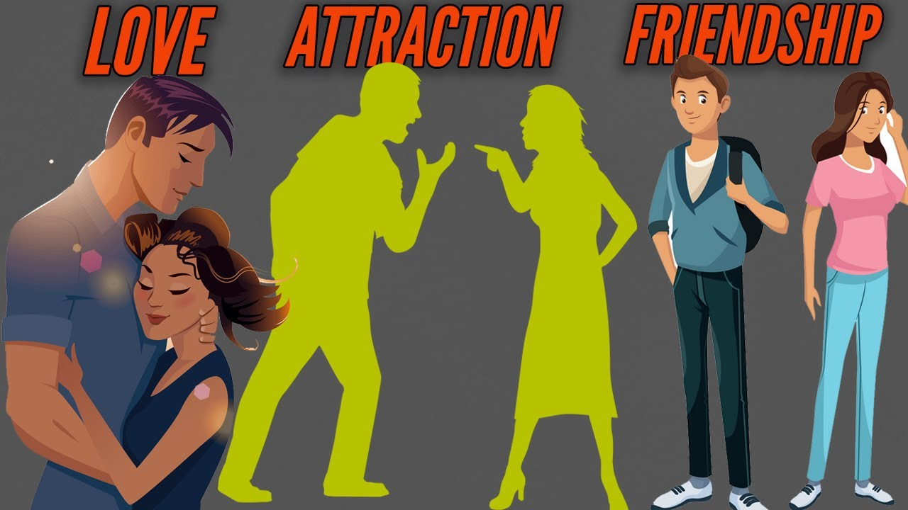 Difference Between lOVE, ATTRACTION and FRIENDSHIP in
