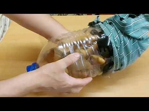 Чучело заборное из пластиковой канистры своими руками
