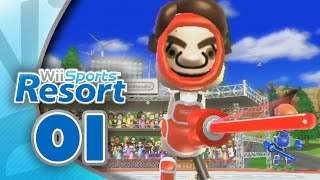 Wii Sports Resort: Part 01 | Swordplay - Duel (4-Player)