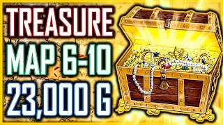 BEST LONG SWORD & AXE Treasure Map 6-10 HIDDEN 23,000+ Gold - Kingdom Come Deliverance