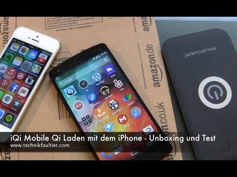 iqi mobile qi laden mit dem iphone unboxing und test. Black Bedroom Furniture Sets. Home Design Ideas