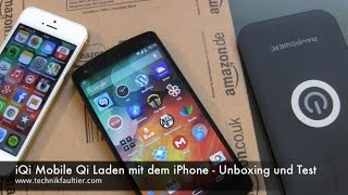 iQi Mobile Qi Laden mit dem iPhone - Unboxing und Test