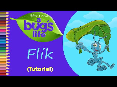 How to draw Flik from a Bug's Life step by step | Cam Cartoon