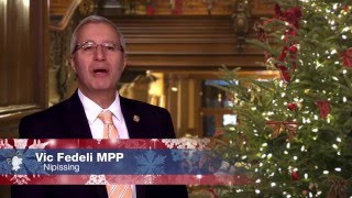 Christmas and Holiday greeting from MPP Fedeli 2015