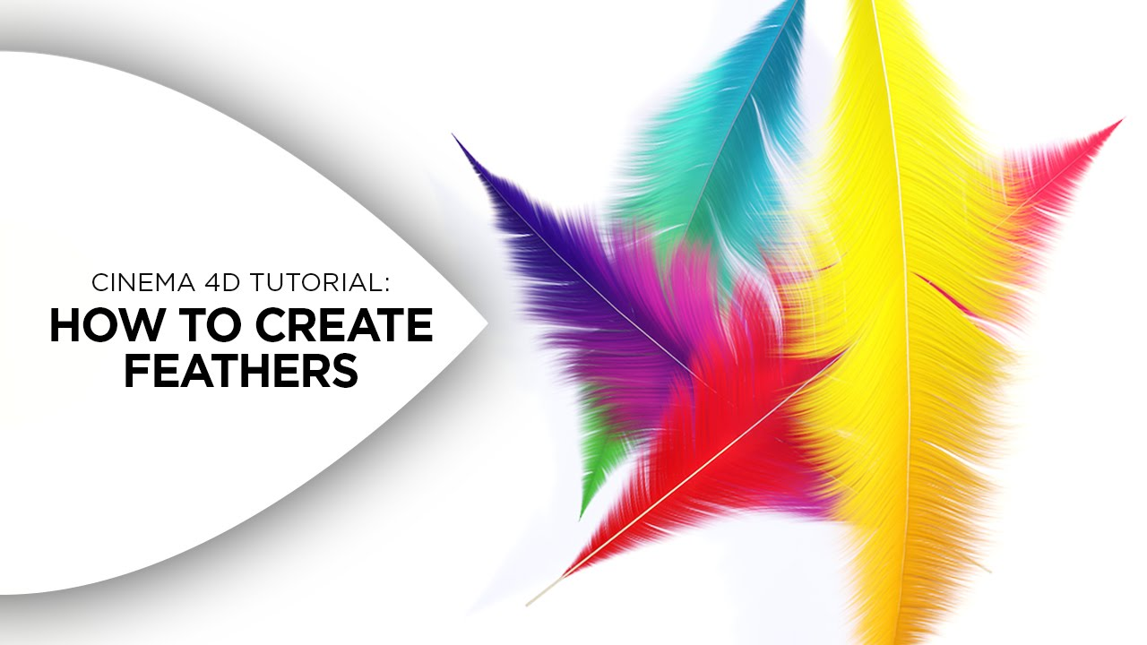 cinema 4d tutorial how to create colorful feathers in