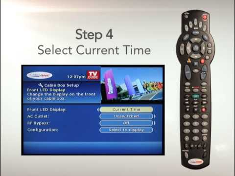Cable ONE - Setting the Time on your Cable Box with Cable ONE - YouTube