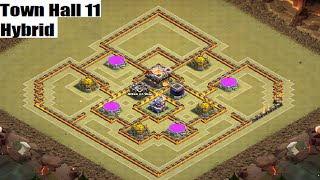 TH11 Hybrid Base Perfect Loot Balance  - Clash of Clans