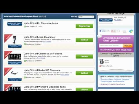 How To Use American Eagle Coupons, Coupon Codes & Sales