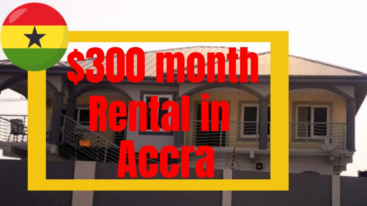 $300 a month rental in Ghana | Tour a 3 bedroom house
