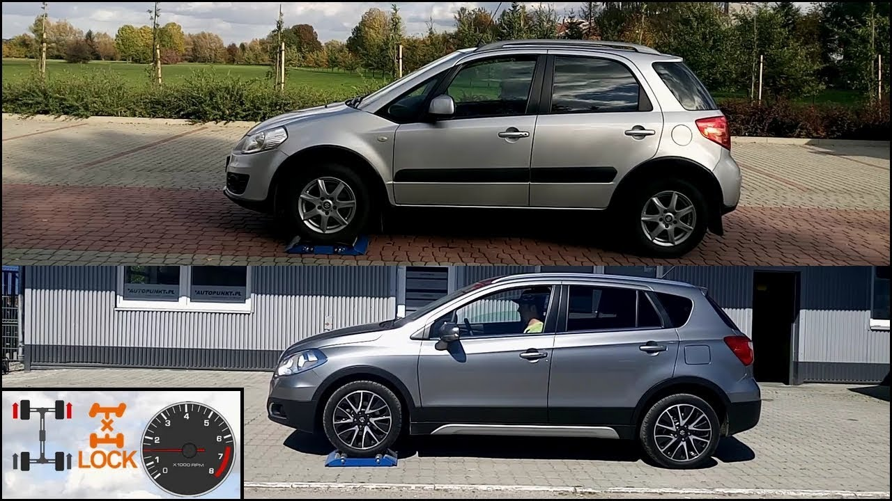 4x4 generations of awd suzuki sx4 i awd vs suzuki s cross all grip select test on 3 rollers. Black Bedroom Furniture Sets. Home Design Ideas