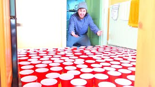 1,000 RED CUPS PRANK ON MY FAMILY!!! *Crazy Reaction*