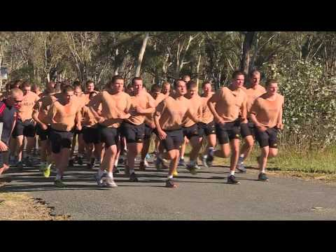 The Australian Army's newest officer trainees from the Royal Military College, Duntroon,