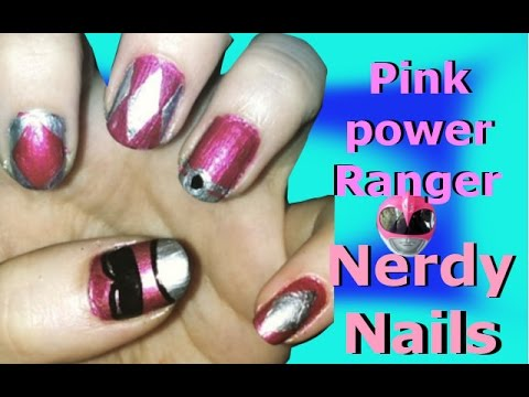 Pink Ranger Nails