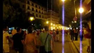 World Cup Final: Street Party in Palma de Mallorca Spain
