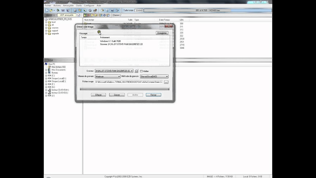 How to Burn an ISO file in ULTRAISO (HD & Quick ) - YouTube