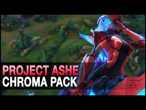 Project Ashe Chroma Pack - Custom Skin Spotlight - League of Legends (lol)