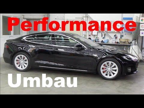 Tesla Model S 75D Umbau zum Performance Model P75D