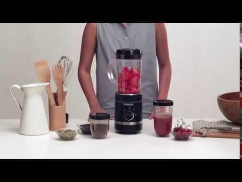 Borosil NutriFresh Blender And Grinder 400W, Red.