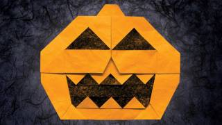 Origami Jack-o'-lantern By Jun Maekawa (folding Instructions)