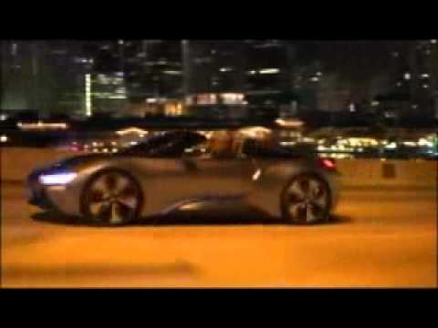 Bmw I8 Concept Spyder Night Scenes Youtube
