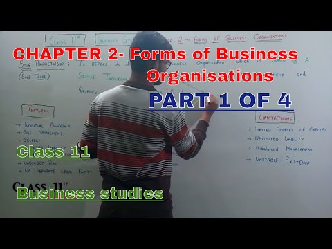 Business studies chapter-2 | part 1 of 4 | Forms of business organisations | class 11