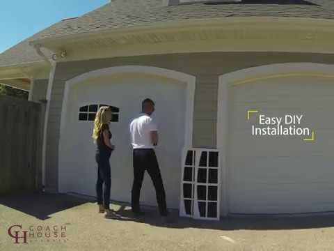 Coach House Accents Garage Windows - Easy Installation (Time-lapse)