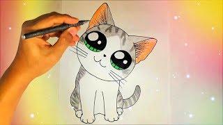 Как нарисовать милого котика? Лёгкие рисунки для детей
