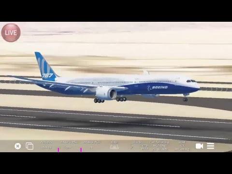 Infinite Flight Online Global solo flight.  Boeing 787-10/Takeoff ✈🚭