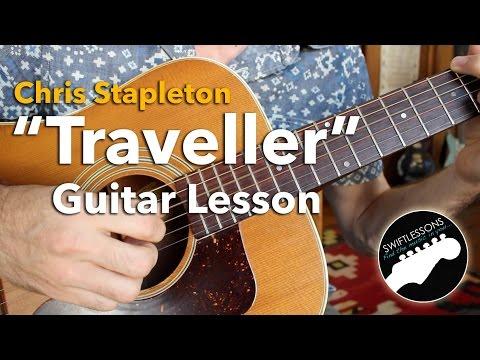 """Chris Stapleton """"Traveller"""" Acoustic Finger Picking Guitar Lesson"""