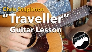 "Chris Stapleton ""Traveller"" Acoustic Finger Picking Guitar Lesson"
