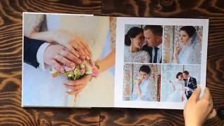 Свадебная фотокнига 30*30см 15 разворотов в обложке «Renaissance»