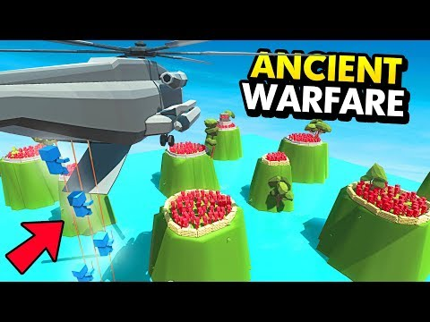 SECRETLY DROPPING UNITS ON REMOTE ISLANDS (Ancient Warfare 3 Funny Gameplay)
