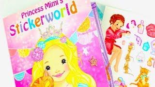 Детская история из наклеек, игровая книжка для творчества