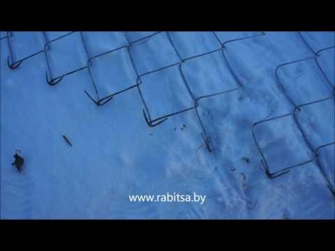 Как скрепить между собой сетку рабицу