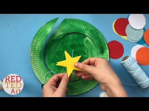 Paper Plate Christmas Tree Twirler