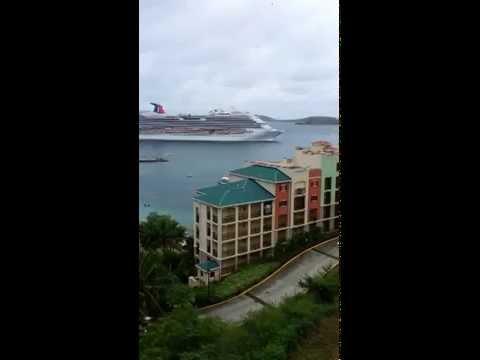 Carnival Cruise Line Entering Port Charlotte Amalie - 07.31.2012