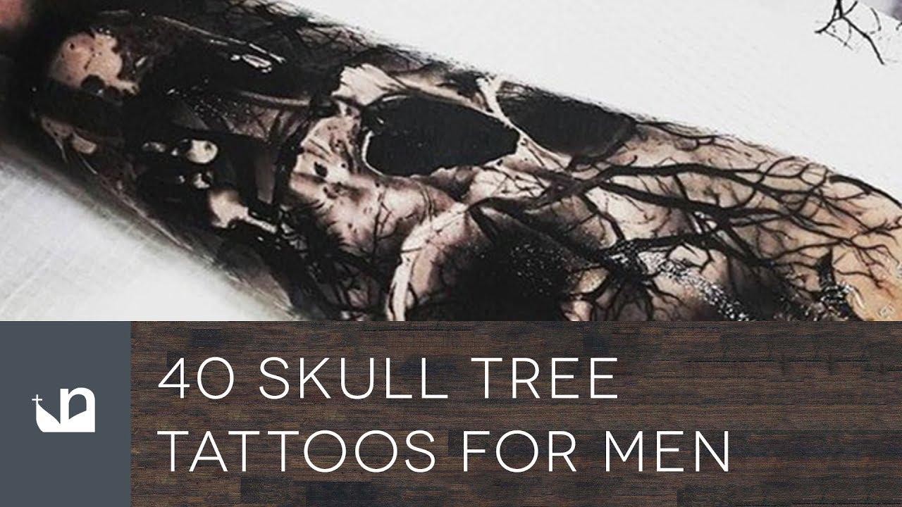 40 Skull Tree Tattoo Designs For Men – Cool Ink Ideas