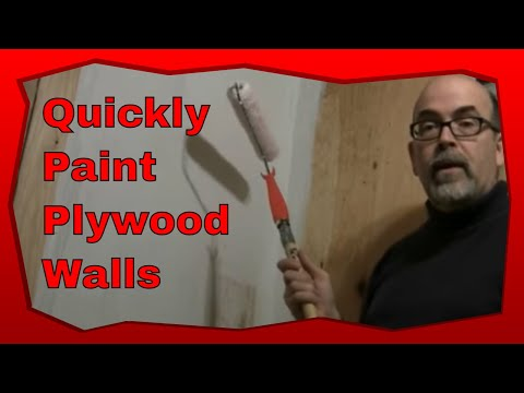 How To Paint A Plywood Wall With A Roller Brush Using This Step By Step Method Youtube