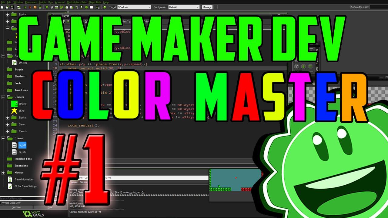 Game Maker Studio: Let's Build Color Master #1 - YouTube