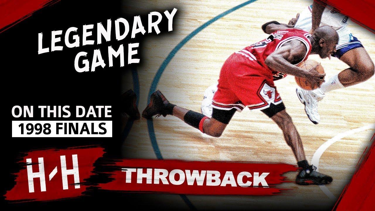Michael Jordan LAST Bulls Game, Game 6 Highlights vs Jazz 1998 Finals - 45 Pts, EPIC CLUTCH SHOT