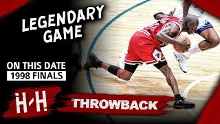 Michael Jordan LAST Bulls Game, Game 6 Highlights vs Jazz 1998 Finals - 45 Pts, EPIC CLUTCH SHOT