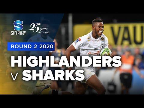 Super Rugby 2020   Highlanders v Sharks - Rd 2 Highlights