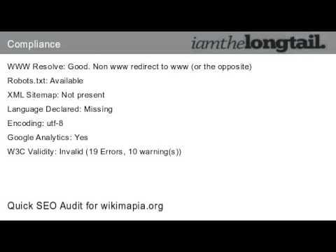 wikimapia.org Quick SEO Audit Score 53.7%