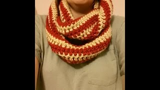 CROCHET How to #Crochet Quick and Easy Striped Infinity Scarf #TUTORIAL #148 LEARN CROCHET DYI