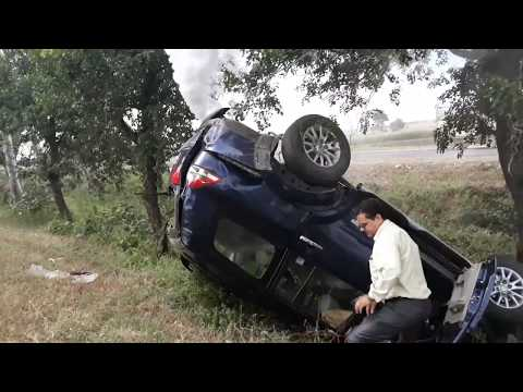 Live - Indore Highway Accident Pajero