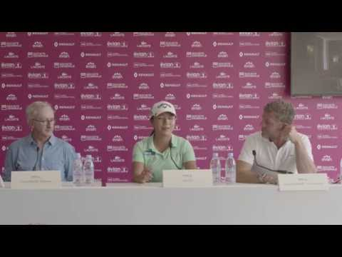 Opening Press Conference - Lydia Ko, Franck Riboud, Jacques Bungert