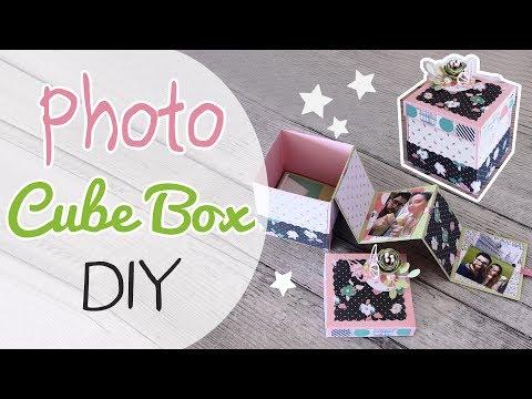 DIY Photo Cube Box - Scatola Cubo porta foto