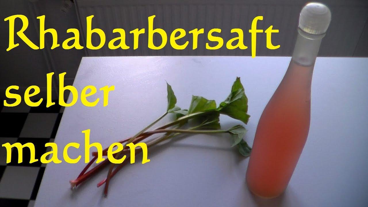 Rhabarbersaft selber machen - Bio Rhabarbersaft selber