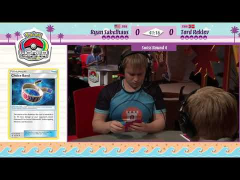 TCG DAY 2 RYAN SABELHAUS VS TORD REKLEV  SWISS R4 POKEMON WORLD CHAMPIONSHIPS
